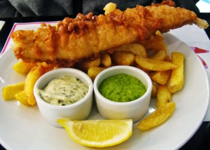 Peixe e batata frita - comidas típicas londrinas