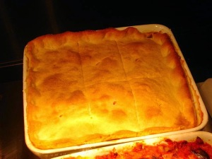 Torta de rins - prato inglês